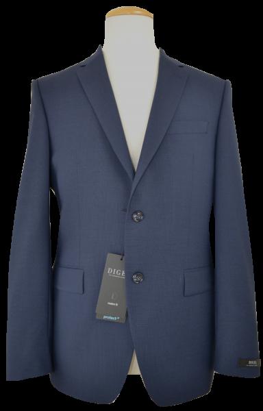 Anzug Blazer mit taillierter Passform in mittel blau mit feiner Struktur