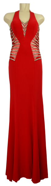 Ballkleid lang in red
