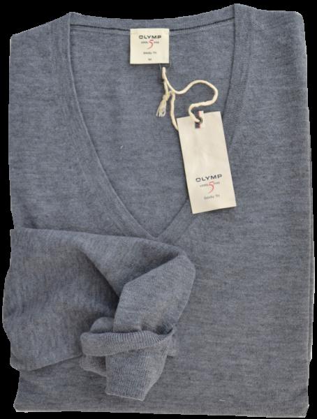LEVEL FIVE Pullover in grau meliert