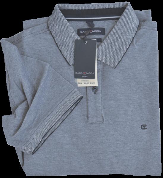 1/2 Arm Polo Shirt in mittel blau meliert