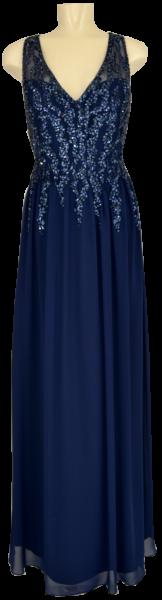 Langes Ballkleid in mitternachts Blau