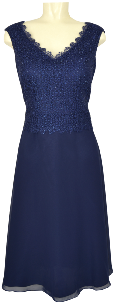 Mittellanges Ballkleid in evening blue