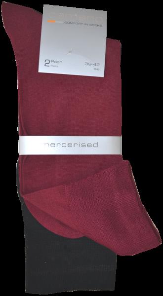 Business Socken in rot und schwarz