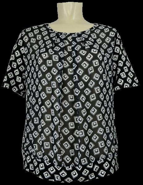 Blusen Shirt mit 1/2 Arm in allover gemustert