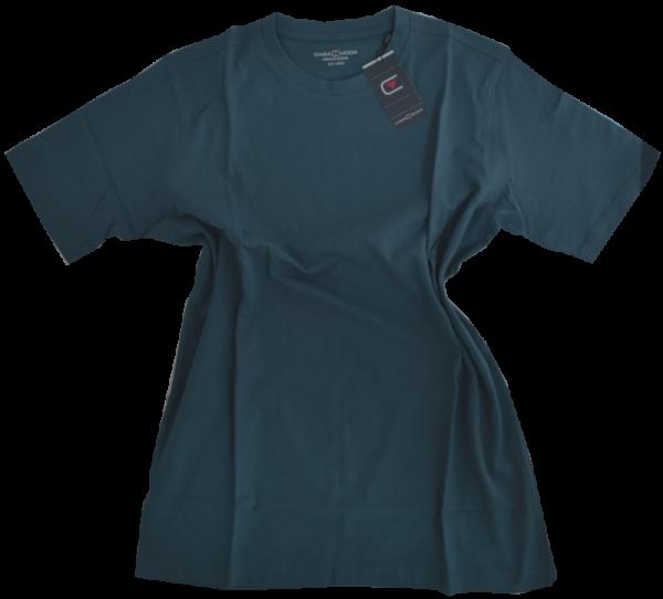 1/2 Arm T-Shirt in uni petrol-blau