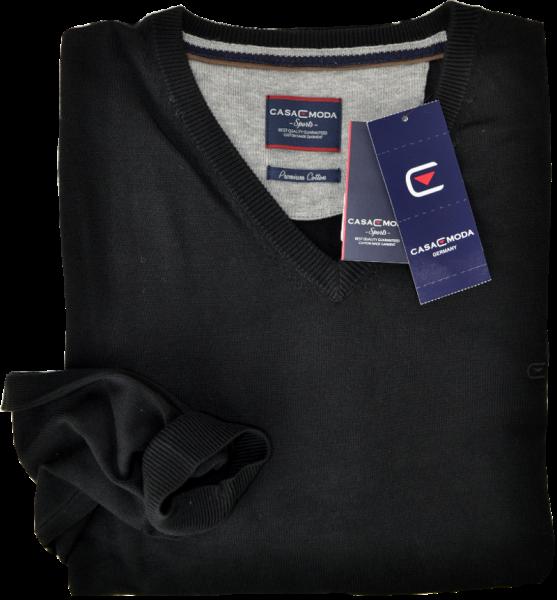 Pullover mit V-Ausschnitt in schwarz