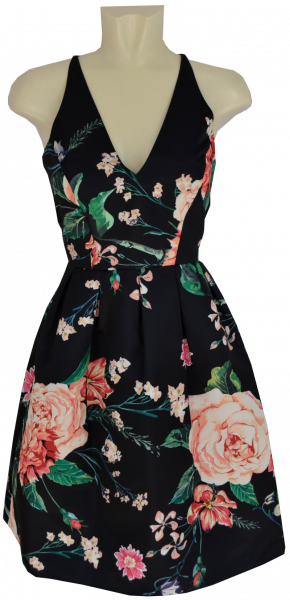 Kurzes Kleid in grey-rose