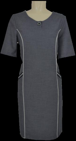 Mittellanges Kleid mit feinem Muster in marine