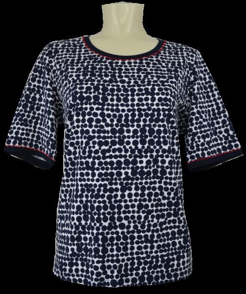 1/2 Arm Shirt in marine gemustert