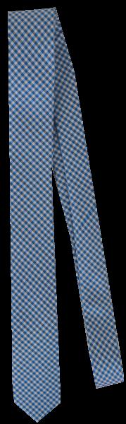 Krawatte reine Seide in mittel blau fein kariert