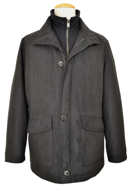 Warme Outdoor Jacke in Anthrazit