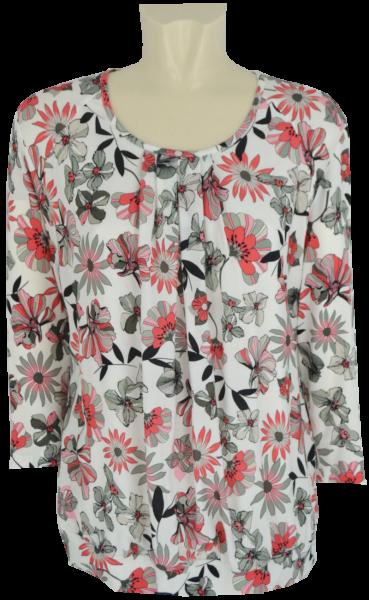 3/4 Arm Shirt in floral gemustert