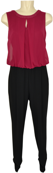 Jumpsuit in black/pink