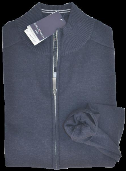 Cardigan Strickjacke in jeansblau meliert
