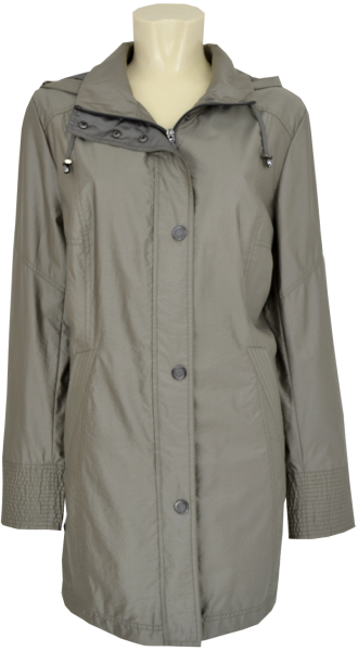 Outdoor Jacke in Pinie mit Kapuze