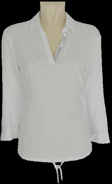 3/4 Arm Blusenshirt in weiß