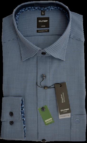 1/1 Arm Freizeithemd mit dezenter Struktur in blau