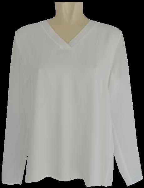 Plissee Blusen-Shirt in offwhite