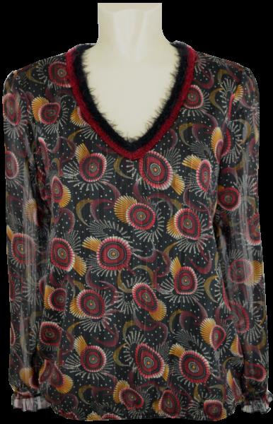 1/1 Arm Blusen Shirt mit dezentem Glanz