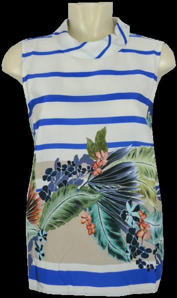 Bluse ohne Arm in mehrfarbig floral gemustert