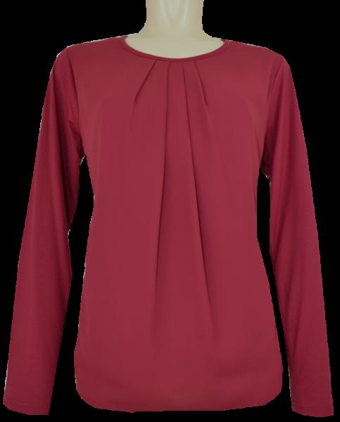 1/1 Arm T-Shirt mit rundem Ausschnitt in uni kamin