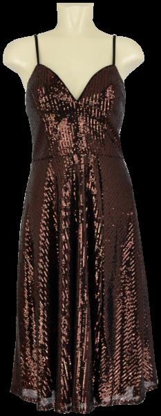 Cocktailkleid in black-brown