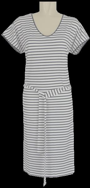 Sommerliches Kleid in marine-weiß geringelt