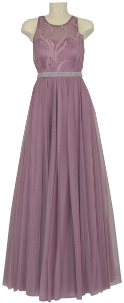 Langes Ballkleid in dusty orchid