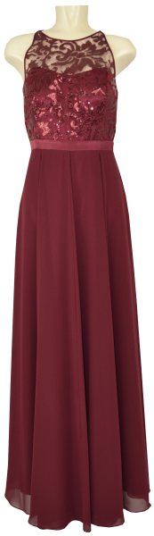 Langes Ballkleid in dark burgundy