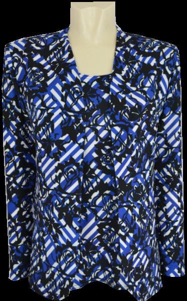 Twin-Set in mehrfarbig gemustert mit royal blau