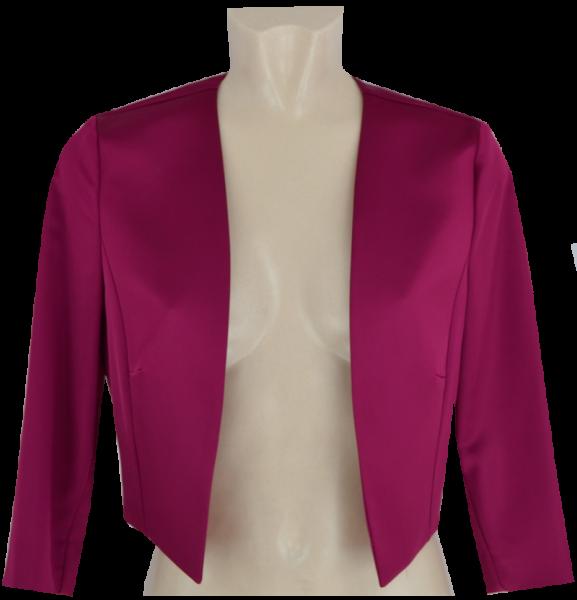 Bolero-Jacke aus Stretch Satin in ruby red