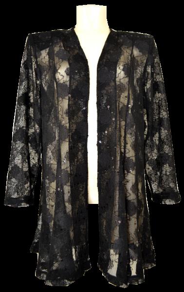 Leicht transparente längere Jacke