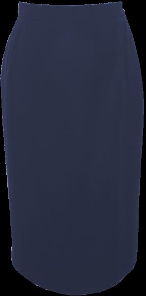 Schmaler Rock in marine blau