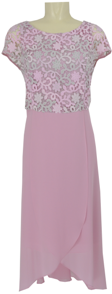 Abendkleid in rosenholz-grau