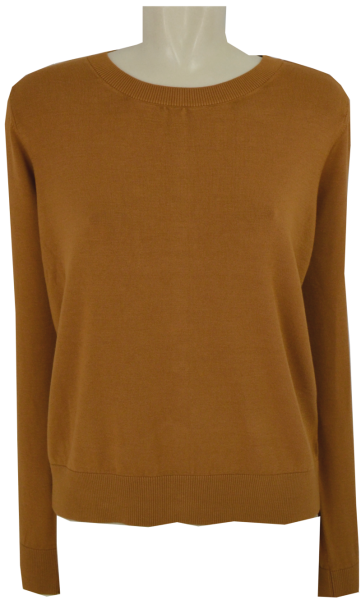 Pullover in amber