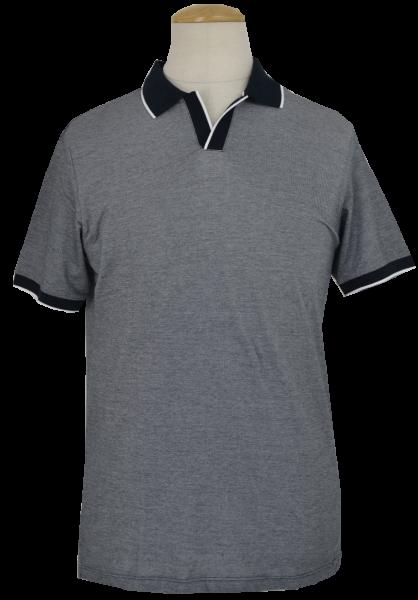 Poloshirt in schwarz-anthra