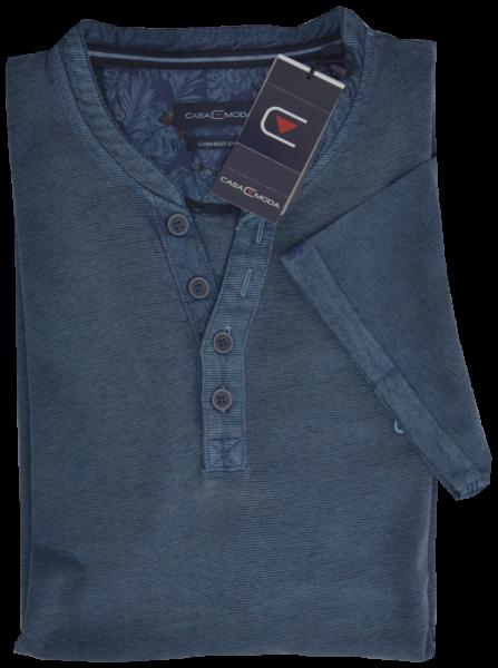 1/2 Arm T-Shirt in mittel blau mit Struktur