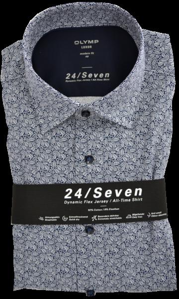 Dynamic Flex Jersey Hemd in floral gemustert mit blau
