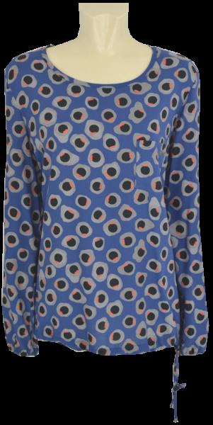 1/1 Arm Blusen Shirt in mehrfarbig gemustert