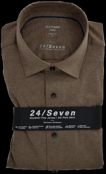 Dynamic Flex Jersey Hemd in braun meliert