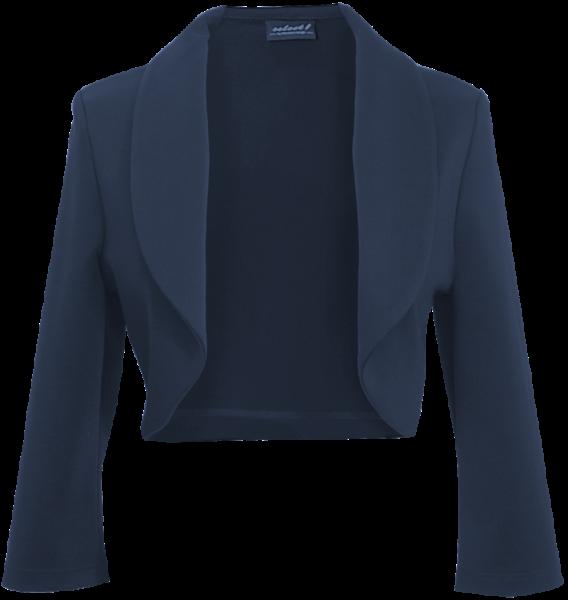 Bolero Jacke mit Stehkragen in marine blau