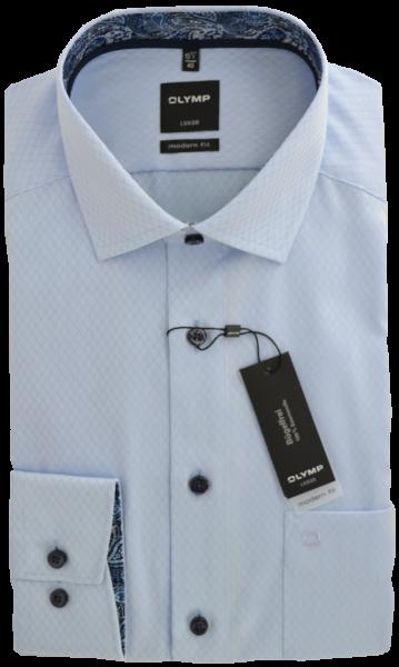 Business -und Freizeithemd in bleu mit feiner Struktur