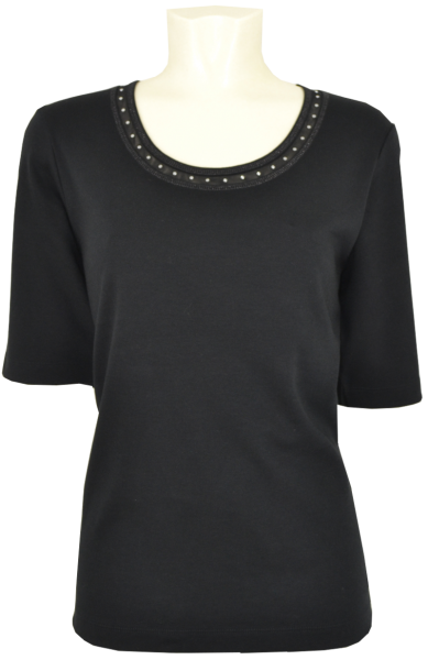 1/2 Arm Shirt in schwarz