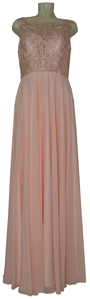 Langes Ballkleid in apricot
