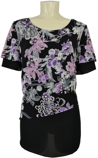 Festliches Shirt in allover floral gemustert