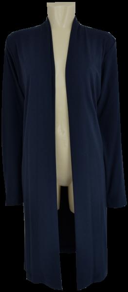 Jersey Long Strickjacke in dunkel blau