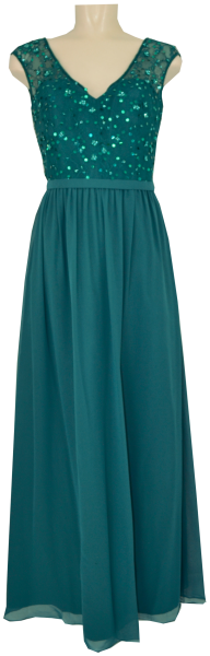 Langes Ballkleid in ocean teal