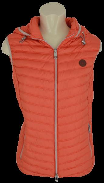 Leichte Outdoor Steppweste mit Kapuze in orange