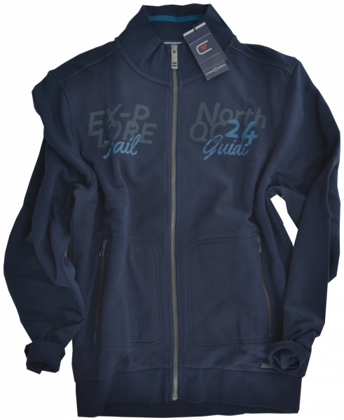 Sweat-Jacke in marine blau