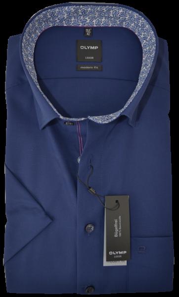 1/2 Arm Businesshemd in dunkel blau